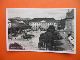 Klagenfurt.Adolf-Hitler-Platz Mit Lindwurm Und Rathaus.Tramway - Klagenfurt
