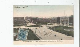 MONTEVIDEO PLAZA INDEPENDENCIA Y PALACIO DEL GOBIERNO 1908 - Uruguay