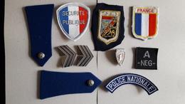 Lot De Divers écussons Et Insignes Police --- Occasions --- Obsolètes ---- Pour Collection Et Collectionneur - Police
