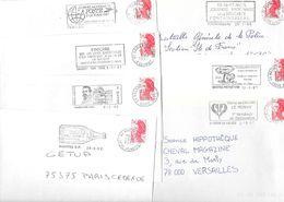 Lot De 50 Lettres Avec Flammes Des Années 1980 - Marcophilie (Lettres)