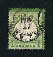 DEUTSCHES REICH 1872 - Aquila A Rilievo In Un Cerchio / Grande Scudo Sull'aquila - 1 K. Verde - Michel DR 23 - Germania