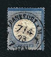 DEUTSCHES REICH 1872 - Aquila A Rilievo In Un Cerchio / Grande Scudo Sull'aquila - 7 K. Azzurro - Michel DR 26 - Germania