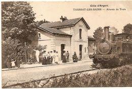TAUSSAT LES BAINS  Gare , Train Voyageurs 1908 - France