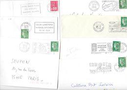 Lot De 50 Lettres Avec Flammes Des Années 1970 - Marcophilie (Lettres)