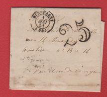 Lettre / De Etrepagny   / Pour Rouen / 1 Mai 1851 - 1849-1876: Periodo Classico