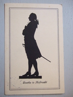GOETHE IN HOFTRACHT / SILHOUETTE DE GOETHE / JOLIE CARTE/ ALLEMAGNE - Scherenschnitt - Silhouette
