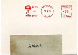 VIGNE & VIN = 11 LIMOUX 1976 = FLAMME ROUGE = EMA Illustrée D'un VERRE ' OEUVRE DIVINE ' - Vins & Alcools