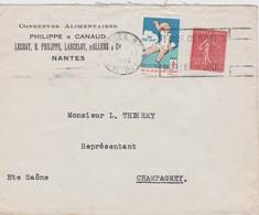 FRANCE 1932 LETTRE DE NANTES VIGNETTE ANTITUBERCULEUX - Commemorative Labels