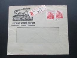 Schweiz 1942 Firmenbrief Kirsch De Schwyz Landtwing Werner. Kirschdetillation, Spirituosen, Weinhandlung. R-Brief Seewen - Briefe U. Dokumente