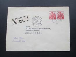 Schweiz 1940 R-Brief Biel (Bienne) 1 824. Vignette Ter. Bat. 168 Mobilisation 1939. Soldat 2. WK - Briefe U. Dokumente
