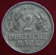 DEUTSCHLAND / GERMANY - 2 Deutsche Mark ( 1951 - D ) - 2 Marchi