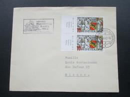 Schweiz 1942 Nr. 398 Paar Vom Bogenrand / Randbedruckung Gültig... Stempel: Schweiz Automobil Postbureau - Briefe U. Dokumente