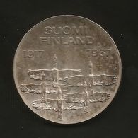 FINLAND - 10 MARKKA ( 1967 - 50° ANNIVERSARY Of INDEPENDENCE ) SILVER - AG - Finlandia