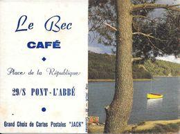 1970 Café Le Bec  Pont L'Abbé 29 - Calendriers