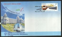 India  2006  KARPHILEX  Bangalore Metro Train  Cover  # 10244    Inde Indien - Trains