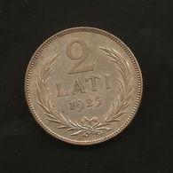 LATVIA / LETTONIA - 2 LATI (1925) SILVER - Lettonia