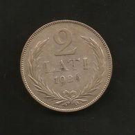 LATVIA / LETTONIA - 2 LATI (1926) SILVER - Lettonia