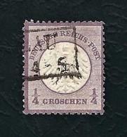 DEUTSCHES REICH 1872 - Aquila A Rilievo In Un Cerchio / Piccolo Scudo Sull'aquila - ¼ G. Violetto - Michel DR 1 - Germania