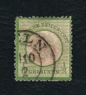 DEUTSCHES REICH 1872 - Aquila A Rilievo In Un Cerchio / Piccolo Scudo Sull'aquila - ⅓ G, Verde Giallo - Michel DR 2 - Germania