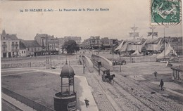 SAINT NAZAIRE LE PANORAMA DE LA PLACE DU BASSIN ANIMATION ATTELAGES KIOSQUE  ACHAT IMMEDIAT - Saint Nazaire