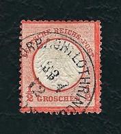 DEUTSCHES REICH 1872 - Aquila A Rilievo In Un Cerchio / Piccoloe Scudo Sull'aquila - ½ G, Arancio - Michel DR 3 - Germania