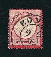 DEUTSCHES REICH 1872 - Aquila A Rilievo In Un Cerchio / Piccolo Scudo Sull'aquila - 1 G. Rosa Carminio - Michel DR 4 - Germania