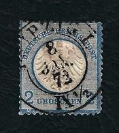 DEUTSCHES REICH 1872 - Aquila A Rilievo In Un Cerchio / Piccolo Scudo Sull'aquila - 2 G. Azzurro - Michel DR 5 - Germania