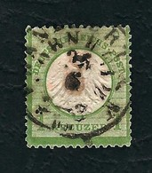 DEUTSCHES REICH 1872 - Aquila A Rilievo In Un Cerchio / Piccolo Scudo Sull'aquila - 1 K. Verde - Michel DR 7 - Germania