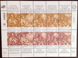 Venezuela 1993 Christmas Sheetlet MNH - Venezuela