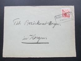 Schweiz Briefvorderseite 1946 Bahnspost Stempel Richterswil S.B.B. - Briefe U. Dokumente