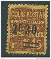France Colis Postaux N° 147 X Apport à La Gare : 2 F. 30 Sur 1 F. 45 Brun Sur Jaune, Trace De Charnière Sinon TB - Colis Postaux