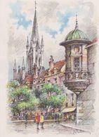 Carte Postale       BARRE  DAYEZ       DIJON    La Place Des Ducs Et L'église NOTRE DAME    2081 C - Dijon