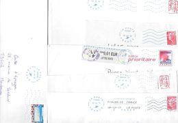 Lot De 28 Lettres Flamme Neopost Ijo 85 Plus Qlq Fragments Code ROC Tous Différents - Marcophilie (Lettres)