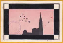 1932 - Carte Postale Recommandée De Strasbourg Vers Clermont Ferrand - Timbre Poste Aérienne YT 5 1f50  - Griffe CPAL - Poststempel (Briefe)