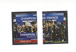 Panini Rugby 2016-2017 N° 27 Et 28 Champion De France . - Panini