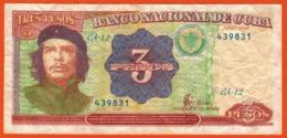 CUBA - 1995 Billet De 3 Pesos - Che Guevara  1995 ** Opportunity *** - Cuba