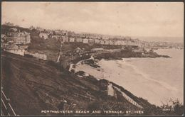 Porthminster Beach And Terrace, St Ives, Cornwall, 1923 - Valentine's Sepiatype Postcard - St.Ives