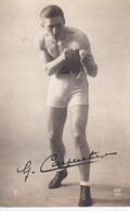 CARTE PHOTO DE GEORGES CARPENTIER DEDICACEE - Boxe