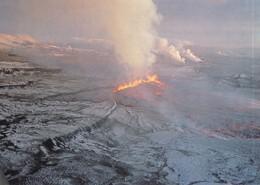 Postcard Iceland Fissure Eruption In The Krafla Fissure 1977 [ Volcano Interest ] My Ref  B22513 - Iceland