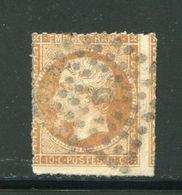 Y&T N°13B- Percé En Ligne, Bureau D De Paris - 1853-1860 Napoleone III