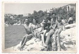 REAL PHOTO Ancienne Family Bikini Women TrunksMan And Kids On Beach, Femmes Hommes Et  Enfants Sur Plage, Photo ORIGINAL - Photos