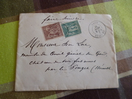 Lettre France Classique Bicolore Type Sage  X2 08/09/1877 Le Vigan Pour Le Pouget Hérault En L'état - Postmark Collection (Covers)