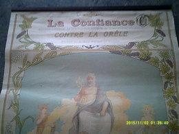 AFFICHE PUBLICITE ASSURANCE LA CONFIANCE ILLUSTRATEUR WATT VENDANGES MOISSONS ZEUS PARIS ORLEANS - Posters