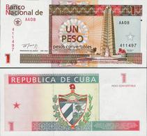Cuba 1994 - 1 Peso Convertibles - Pick FX37 UNC - Cuba
