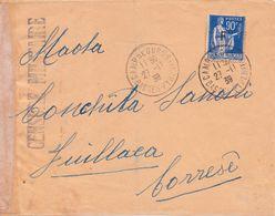 FRANCE - DEVANT DE LETTRE CAMP DE GURS INTERNEMENT DES ESPAGNOLS AVEC CACHET DE CENSURE MILITAIRE - Franchise Militaire (timbres)