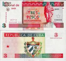Cuba 1994 - 3 Pesos Convertibles - Pick FX38 UNC - Cuba
