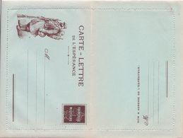 FRANCE - CARTE-LETTRE DE L'ESPERANCE FRANCHISE MILITAIRE COMPLETE AVEC GOMME - Marcophilie (Lettres)