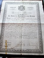 ESPAÑA - Puerto De MALAGA - 1836 Patente De Sanidad Para Puertro Libre De Peste - Navio En Viaje A Buenos Aires - Documentos Históricos