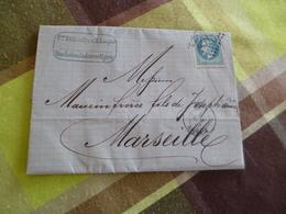 Lettre France Colonie Française Algérie Bône N°22 Sul Sur Lettre Battandier Pour Marseille - Marcophilie (Lettres)