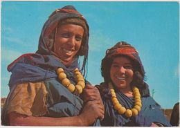AFRIQUE,AFRICA,MAROC,MAROCCO,MARRUECOS,FEMME BERBERE,SOURIANTE,FILLE,collier Gros - Rabat